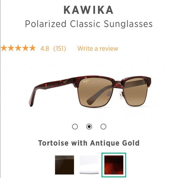 d9f5a5a5149ab AUTHENTIC Maui Jim Kawika Sunglasses. M 5b476aae45c8b37fad6d8d6d